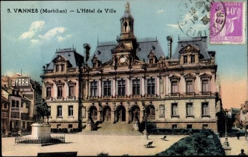 Vannes Carte Postale Ancienne